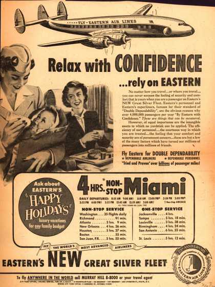 Eastern Air Lines – Relax With Confidence ...Rely on Eastern (1953)