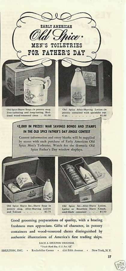 Old Spice Mens Toiletries Fathers Day (1942)