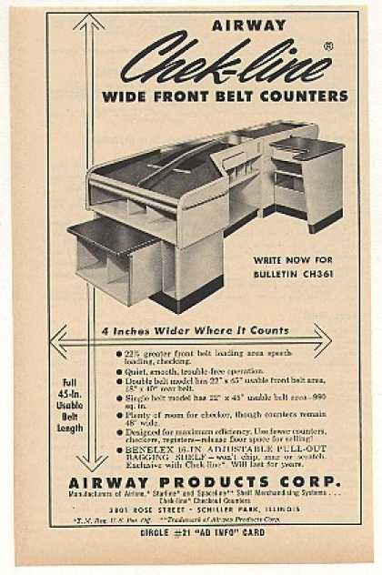 Airway Chek-line Store Belt Counter Trade (1961)