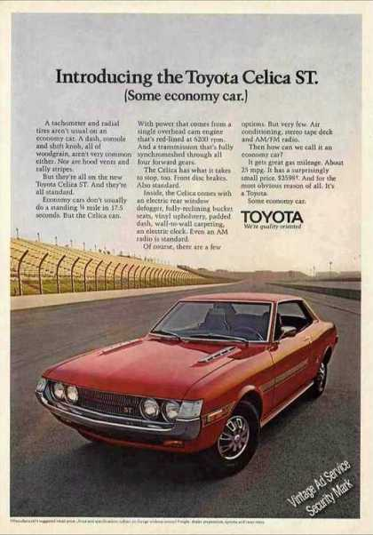 Toyota Celica St (some Economy Car.) (1972)