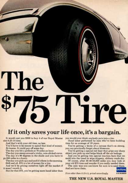 Uniroyal Royal Master $75 Tire (1966)
