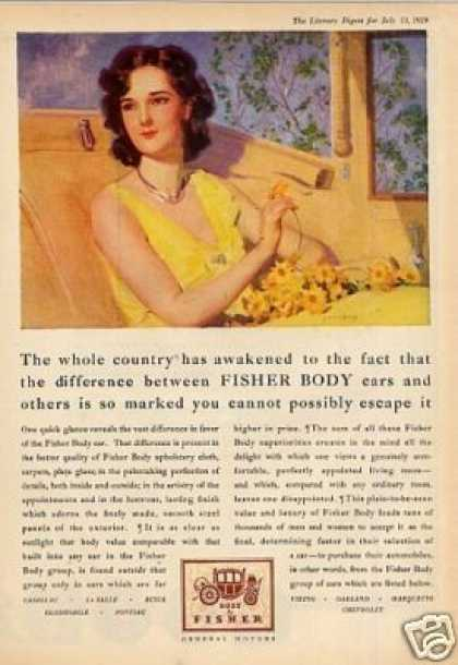 Body By Fisher Color Ad Barclay Art (1929)