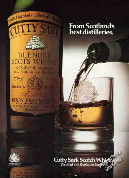 Cutty Sark From Scotlands Best Distilleries Uk (1977)
