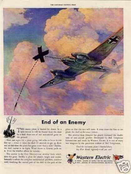 "Western Electric Ad ""End of an Enemy... (1944)"