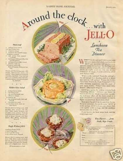 "Jello Color Ad ""Around the Clock... (1929)"