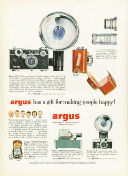 Argus C-3 Camera Flash Lens Projector Flash (1955)