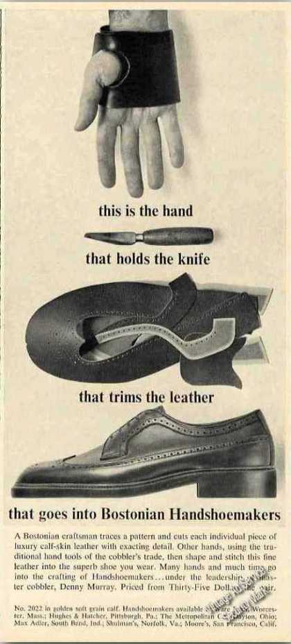 Bostonian Handshoemakers Cobblers Trade (1963)
