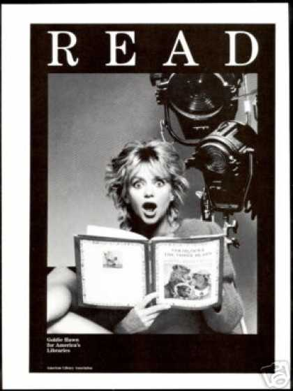 Goldie Hawn Photo Read America Libraries (1993)