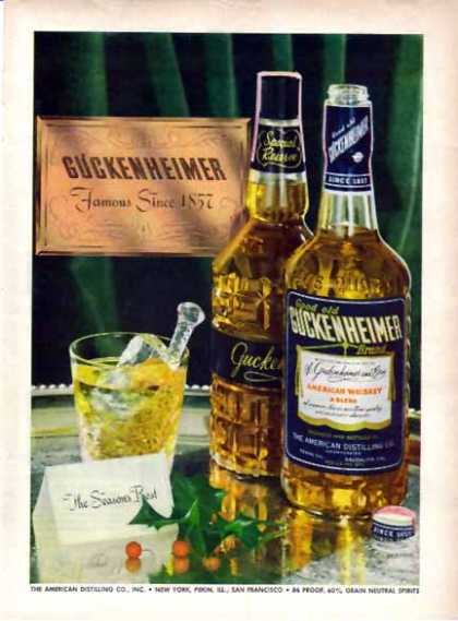 Guckenheimer Whiskey Christmas – Since 1857 (1948)