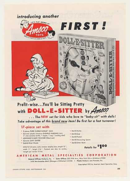 Amsco Toys Doll-E-Sitter Doll Set (1955)