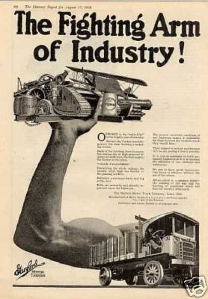 "Garford Truck Ad ""The Fighting Arm... (1918)"