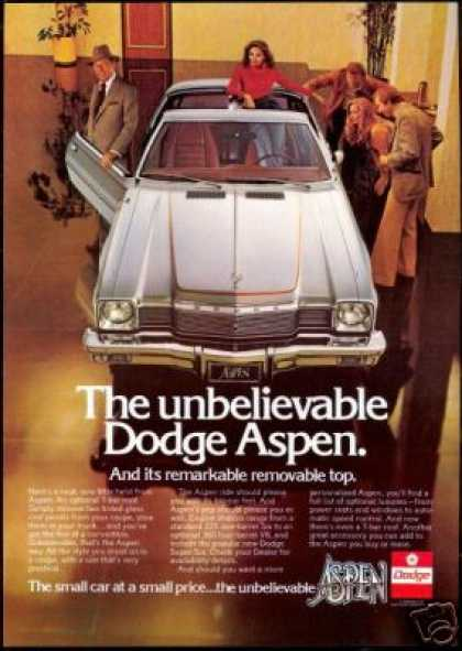 Dodge Aspen Car Rex Harrison Photo Vintage (1977)