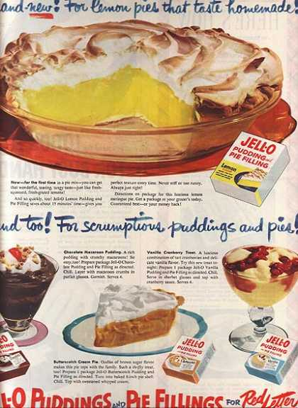 Jello's Pudding and Pie Fillings (1951)
