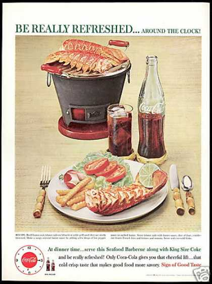 Coke Cola Hibachi Lobster Tails Photo (1960)