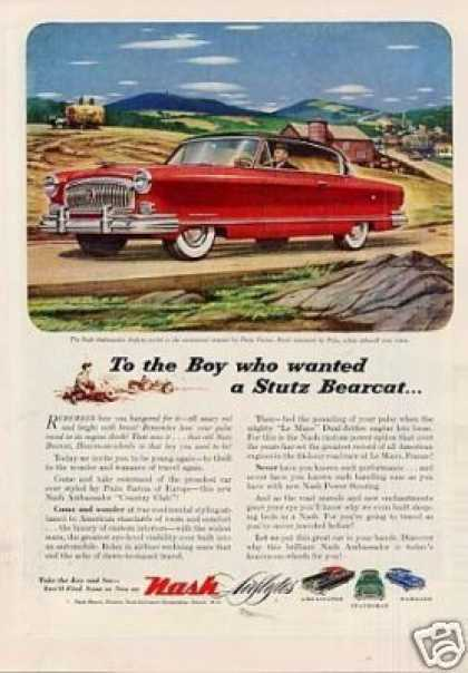 "Nash Ambassador Airflyte Car Ad ""To the Boy Who... (1953)"