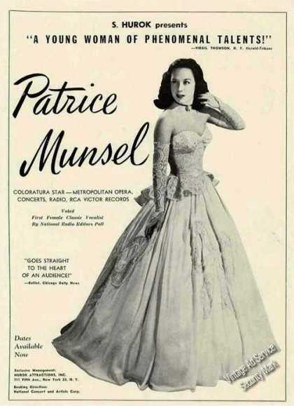 Patrice Munsel Photo Opera/concert/r (1947)