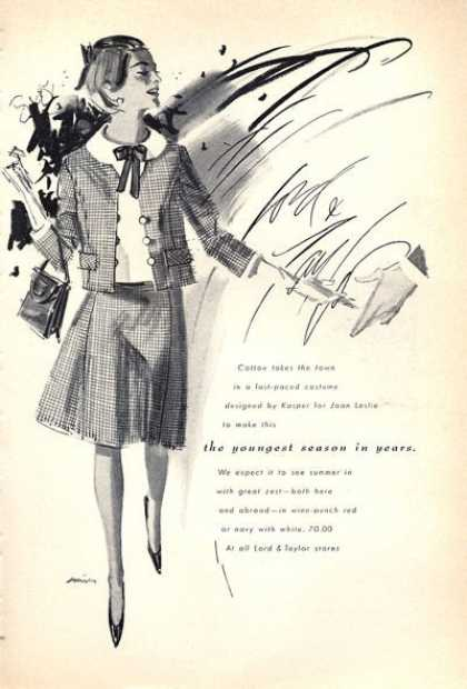Lord &amp; Taylor Kasper Design Clothes (1965)