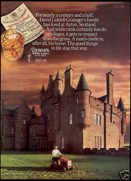 Ayton Scotland Castle Dewar's WL Scotch (1986)