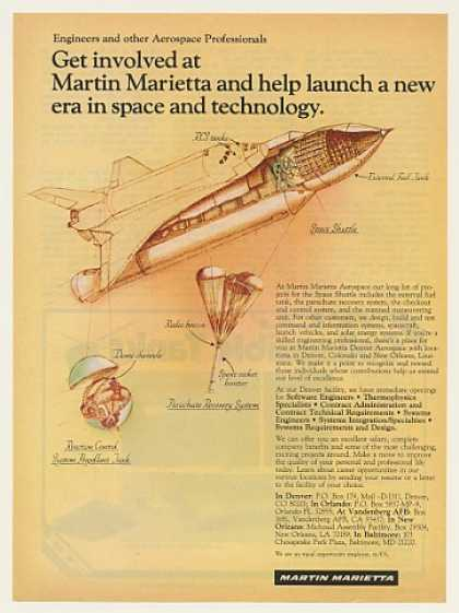 Martin Marietta Space Shuttle Projects Careers (1983)