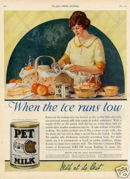 "Pet Milk Ad ""When the Ice Runs... (1923)"
