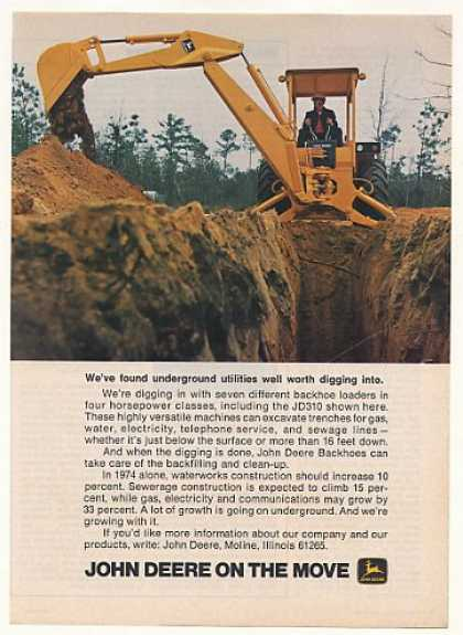 John Deere JD310 Backhoe Loader Photo (1974)