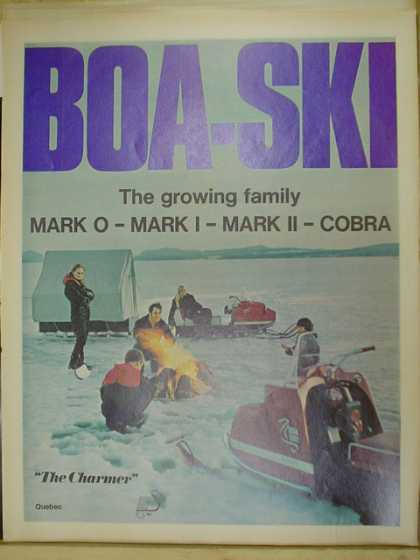 Boa Ski Snowmobile snow machine. Mark O Mark I mark II Cobra (1970)
