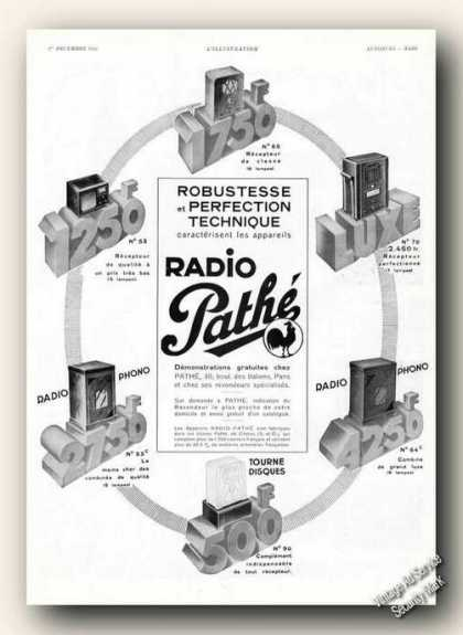 Radio Pathe Photos Collectible French (1934)