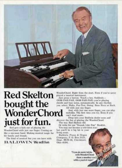 """Red Skelton Bought Baldwin Wonderchord"" Photos (1971)"