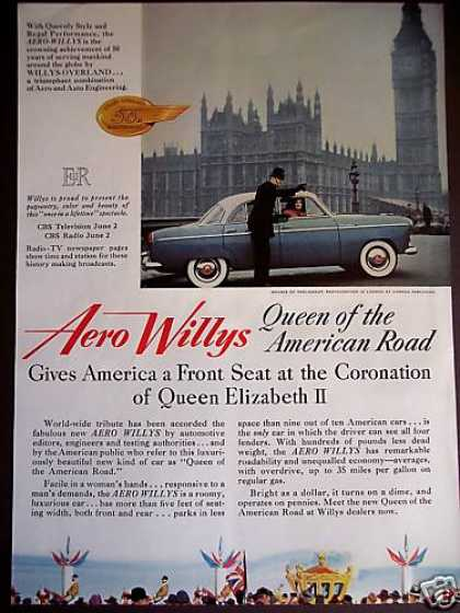Aero Willys Car In London Photo (1953)