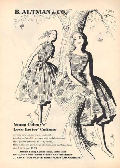 B. Altman & Co. Illustrated Dresses (1956)
