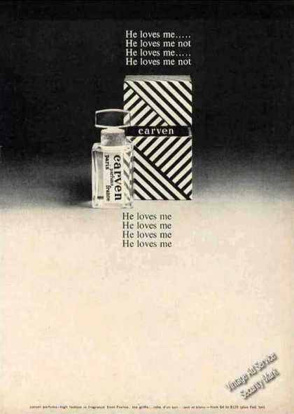 "Carven Parfums From Paris ""He Loves Me"" (1963)"