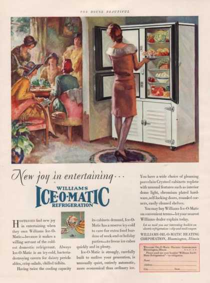 Williams Ice O Matic Refrigerat (1929)