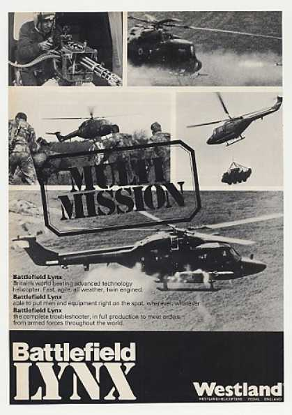 Westland Battlefield Lynx Helicopter Photo (1980)