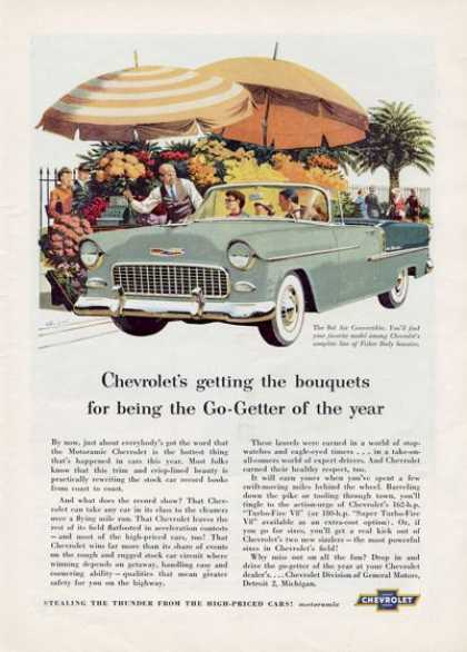 Chevy Bel Air Convertible Flowers (1955)
