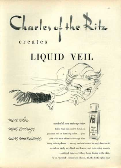 Charles of the Ritz Liquid Veil Art (1951)