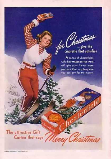 Chesterfield Cigarettes Merry Christmas (1940)