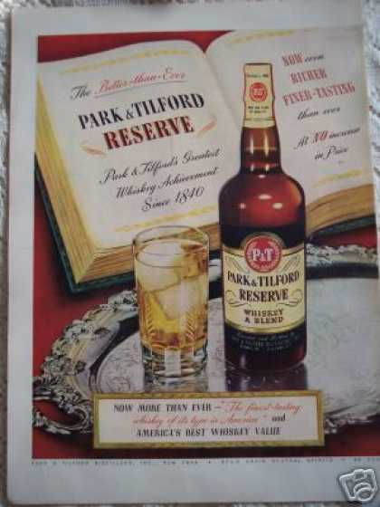 Park & Tillford Whiskey Bar Art (1948)