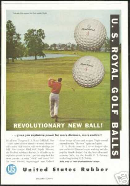 U.S Royal Special Golf Balls Vintage Photo (1956)