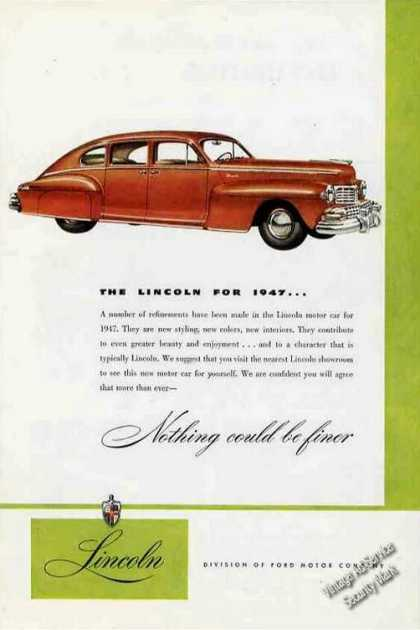"Lincoln ""Nothing Could Be Finer"" (1947)"