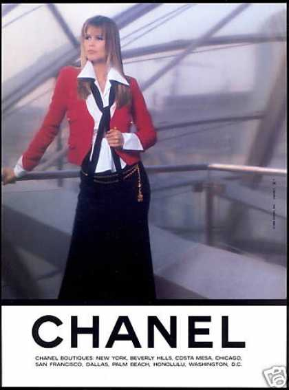 Claudia Schiffer Photo Chanel Fashion (1993)