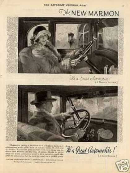Marmon Car Ad Fred Mizen Art (1926)