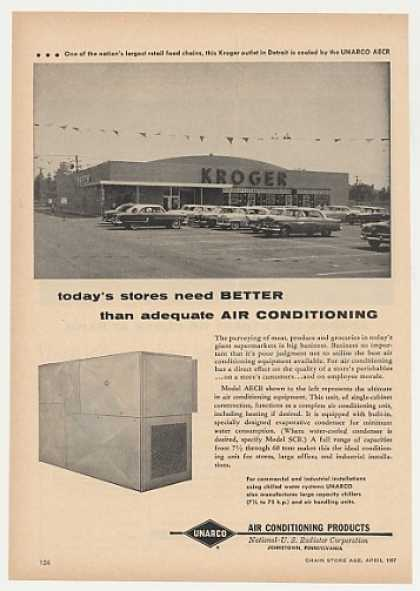 Kroger Store Detroit MI UNARCO Air Conditioning (1957)