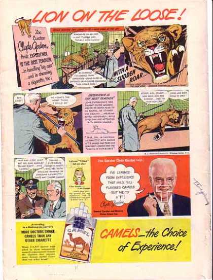 Camels Cigarettes – Zoo Curator Clyde Gordon (1948)