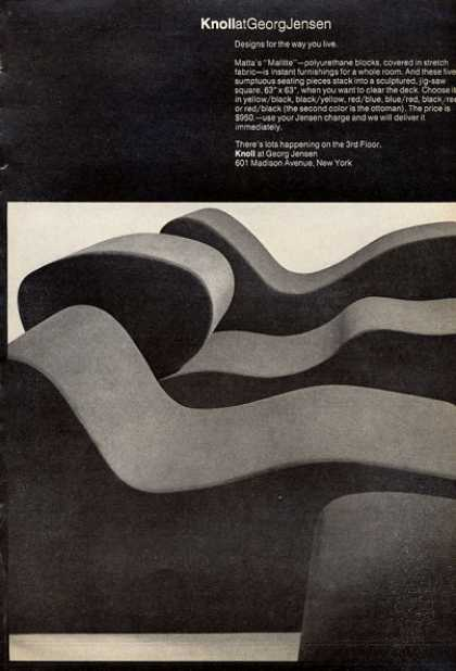 Knoll Georg Jensen Seating Pieces Matta Malitte (1972)