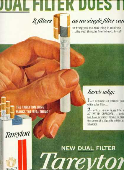 Tareyton Cigarettes Dual Filter Does It C (1960)