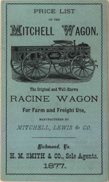 Mitchell, Lewis & Co.'s Racine Wagon – Price List of the Mitchell Wagon (1877)
