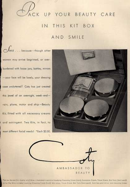Coty's Beauty Kit – Pack Up Your Beauty Care In This Kit Box (1931)