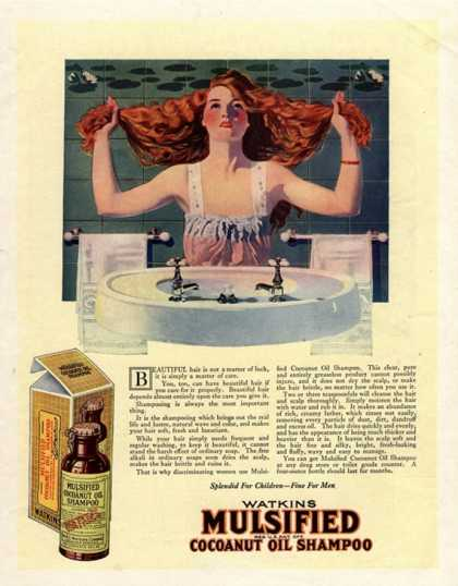 Mulsified Shampoo Hair, USA (1917)