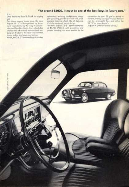 Jaguar 3.8 S Interior View (1965)