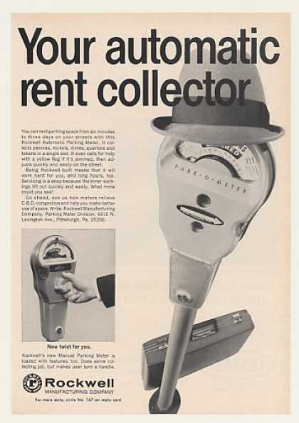 Rockwell Park-O-Meter Automatic Parking Meter (1967)
